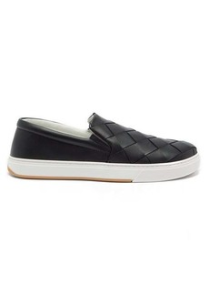 Bottega Veneta Intrecciato leather slip-on trainers