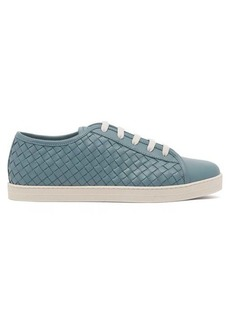Bottega Veneta Intrecciato low-top leather trainers