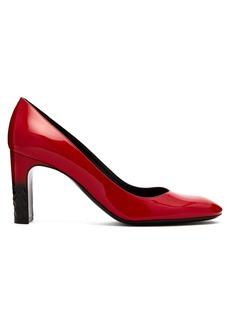 Bottega Veneta Intrecciato patent leather pumps