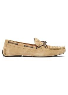Bottega Veneta Intrecciato suede driving loafers