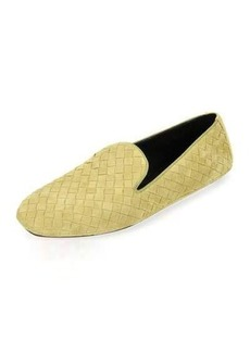 Bottega Veneta Intrecciato Suede Smoking Slipper
