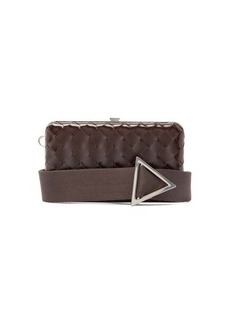 Bottega Veneta Intrecciato-woven leather clutch bag