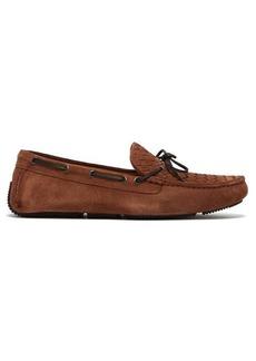 Bottega Veneta Intrecciato-woven suede loafers
