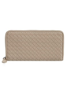 Bottega Veneta Intreccio Zip Around Wallet