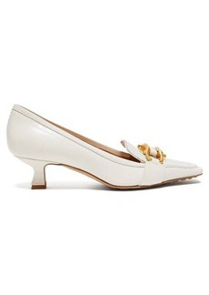 Bottega Veneta Kitten-heel calf-hair and leather loafers