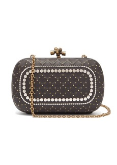 Bottega Veneta Knot studded leather clutch bag