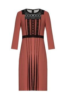 Bottega Veneta Lace-insert crepe dress