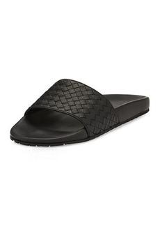 Bottega Veneta Lake Intrecciato Slide Sandals