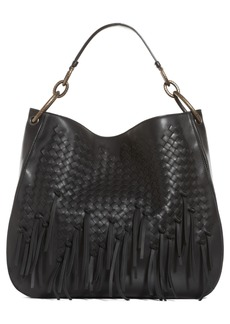 Bottega Veneta Large Loop Fringe Leather Hobo