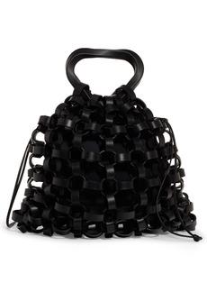 Bottega Veneta Leather Chain Link Basket Bag