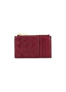 Bottega Veneta Leather Woven Long Card Case Wallet