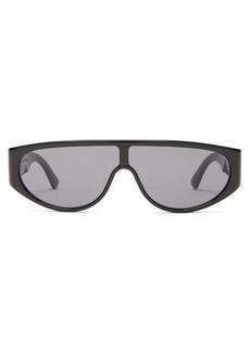Bottega Veneta Logo-engraved shield acetate sunglasses