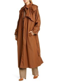 Bottega Veneta Long Cotton Blend Trench Coat