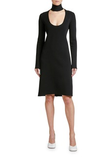 Bottega Veneta Long-Sleeve Scoop-Cutout Dress