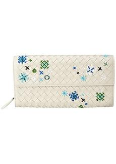 Bottega Veneta Meadow Flower Continental Wallet