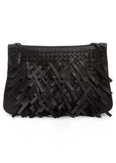 Bottega Veneta Medium Intrecciato Fringe Leather Crossbody Bag