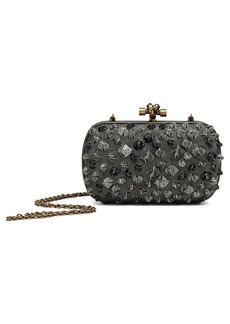 Bottega Veneta Medium Knot Ostrich & Genuine Snakeskin Shoulder Bag