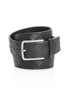 Bottega Veneta Men's 1.5 Intrecciato Leather Belt