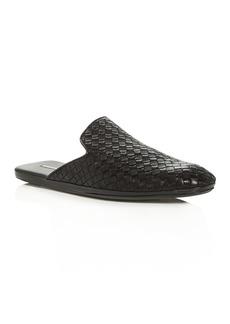 Bottega Veneta Men's Woven Leather Slippers