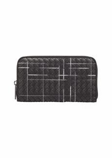Bottega Veneta Metropolis Intrecciato Leather Continental Zip Wallet