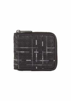 Bottega Veneta Metropolis Intrecciato Leather Zip Wallet