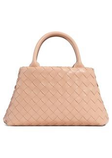 Bottega Veneta Mini Intrecciato Leather Double Handle Tote Bag