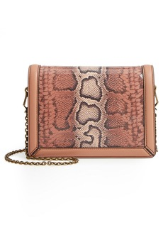Bottega Veneta Mini Motobello Genuine Snakeskin & Leather Wallet on a Chain