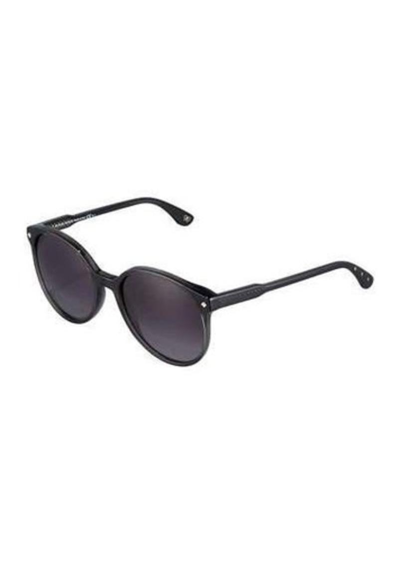 Bottega Veneta Modified Circle Acetate Sunglasses