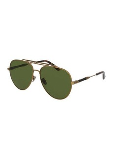 Bottega Veneta Monochromatic Aviator Sunglasses