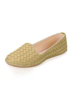 Bottega Veneta Napa Intrecciato Woven Smoking Slipper