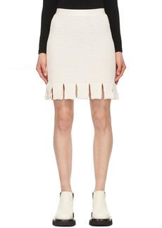 Bottega Veneta Off-White Racked Slit Cut Miniskirt