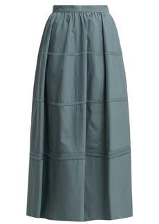 Bottega Veneta Panelled cotton and silk-blend skirt