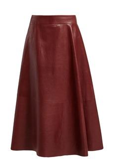 Bottega Veneta Panelled leather skirt