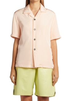 Bottega Veneta Parachute Logo Button-Up Shirt