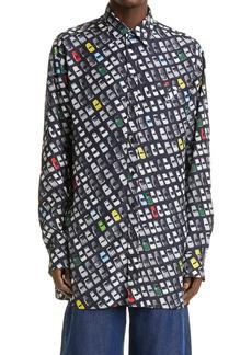 Bottega Veneta Parking Lot Button-Up Shirt