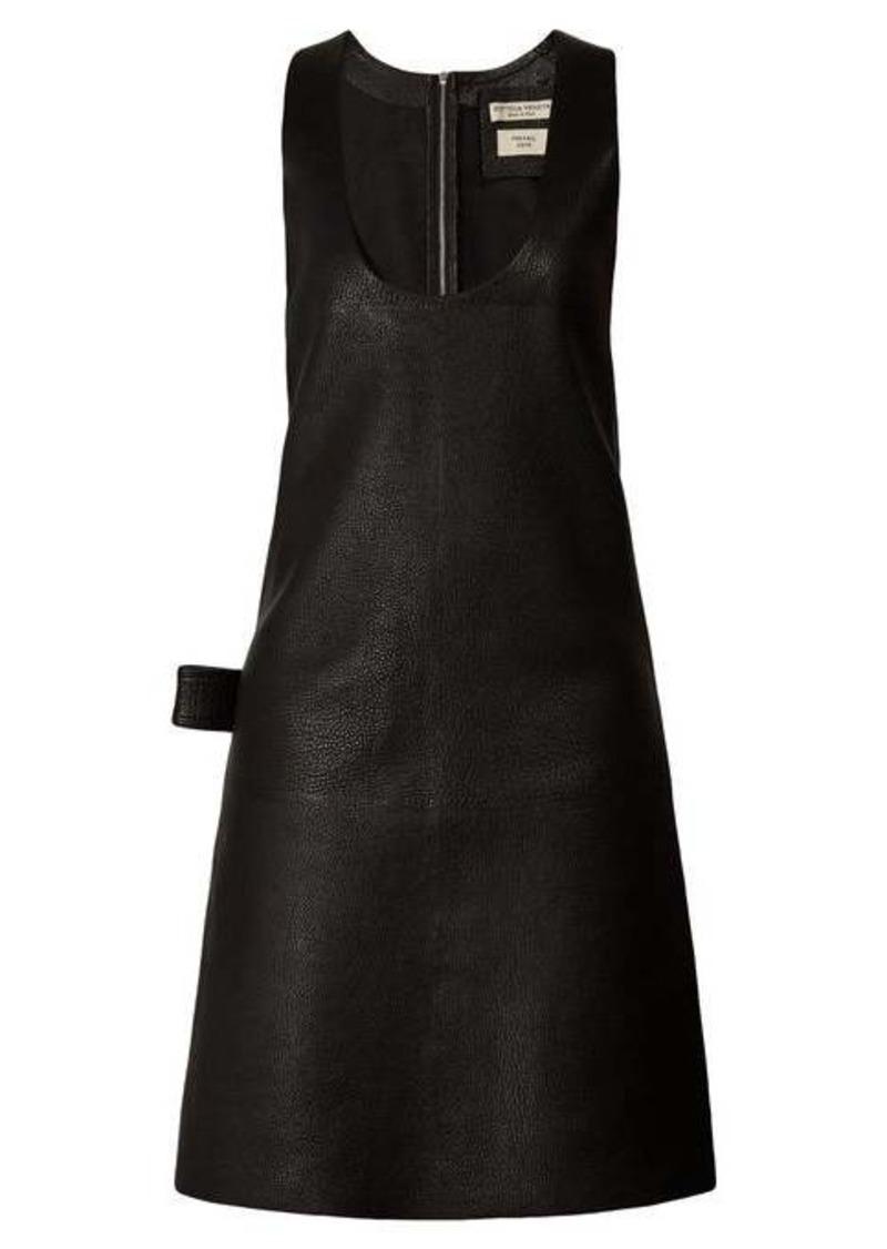 Bottega Veneta Patch-pocket leather midi dress