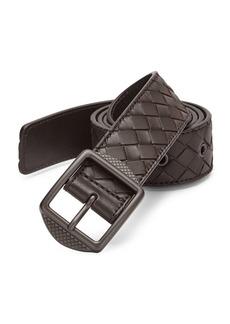 Bottega Veneta Patterned Leather Casual Belt