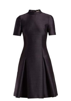 Bottega Veneta Pleated twill mini dress