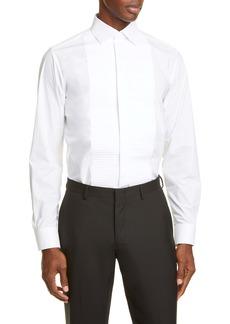 Bottega Veneta Popeline Molded Detail Cotton Poplin Button-Up Shirt