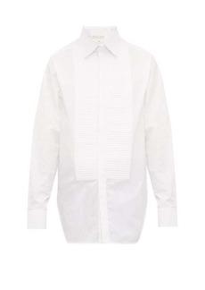 Bottega Veneta Ribbed-bib cotton-poplin dinner shirt