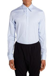 Bottega Veneta Ribbon Stripe Poplin Men's Button-Up Shirt