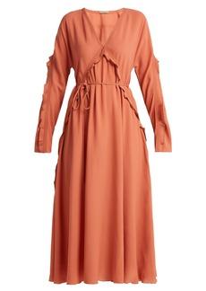 Bottega Veneta Ruffle-trimmed silk dress
