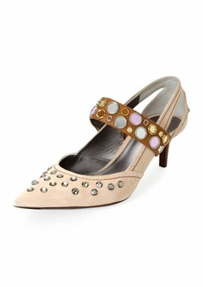 Bottega Veneta Runway Mary Jane Jeweled Pumps
