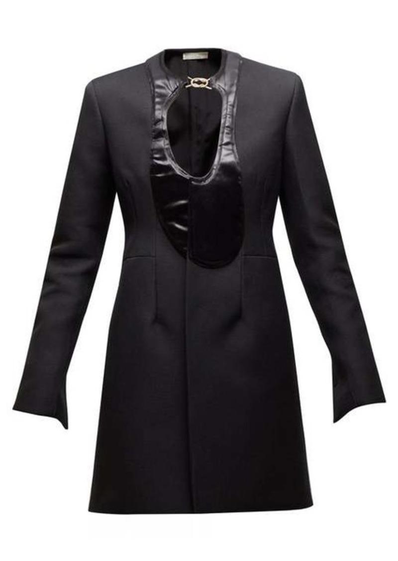 Bottega Veneta Single-breasted satin-panel coat