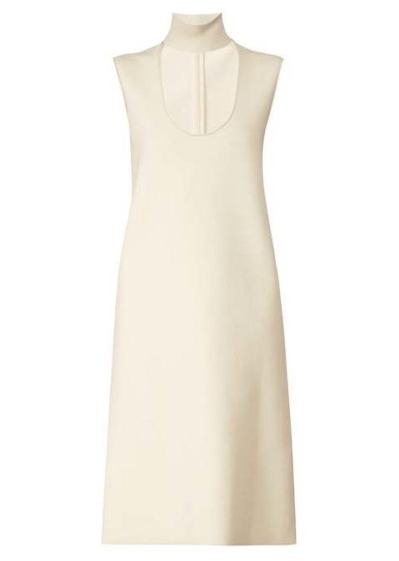 Bottega Veneta Scooped keyhole-neck midi dress