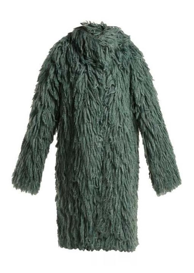 Bottega Veneta Shaggy oversized coat