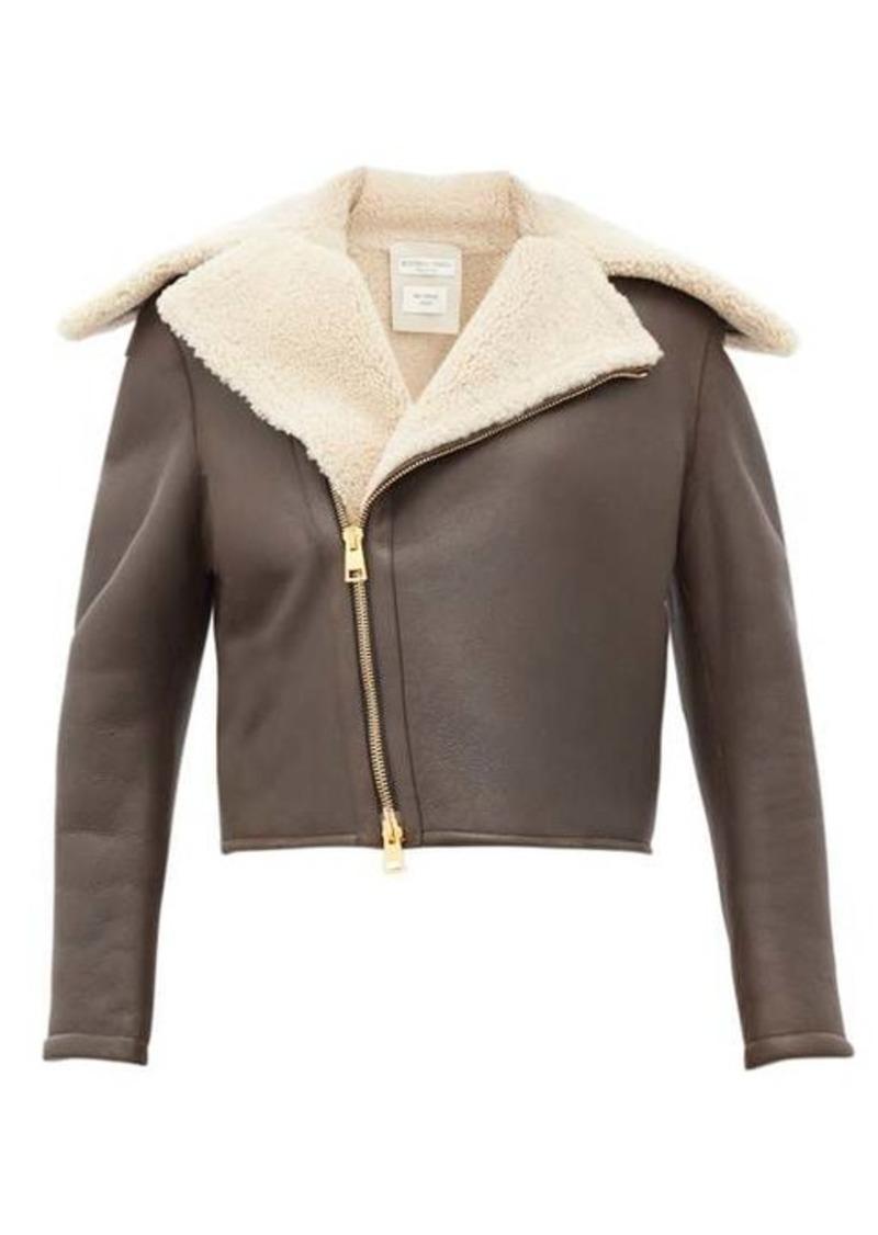 Bottega Veneta Shearling and leather jacket