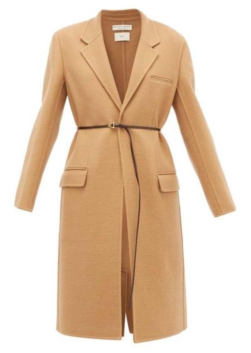 Bottega Veneta Single-breasted belted cashmere coat