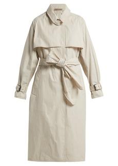 Bottega Veneta Single-breasted cotton-blend trench coat