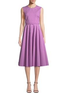 Bottega Veneta Sleeveless Studded Tie-Waist Dress